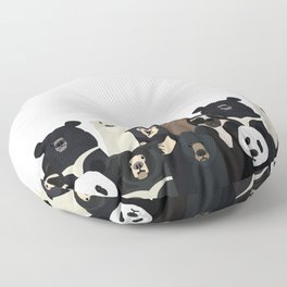 Bear family portrait Floor Pillow