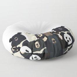 Bear family portrait Floor Pillow