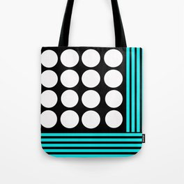 Desing pattern black and white followed by Tuerkies Tote Bag