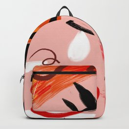 Face Blush Pink Abstract Backpack