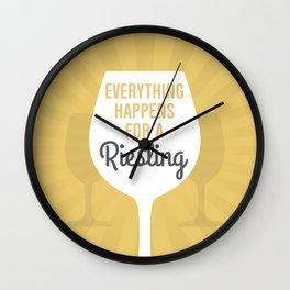 Wine Humor Riesling Wall Clock