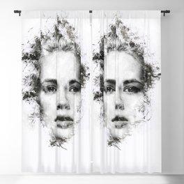 Woman Portrait Blackout Curtain