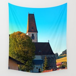 The village church of Hirschbach 2 Wall Tapestry