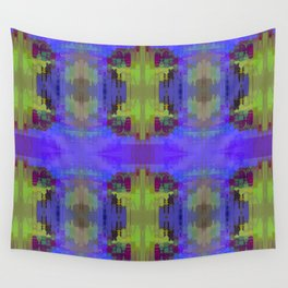 BLUE PATCHWORK Wall Tapestry