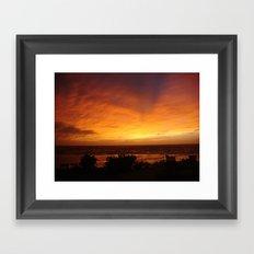 Sunset in Vanuatu Framed Art Print