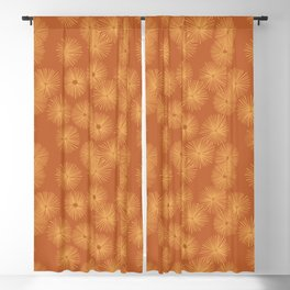 Orange Nasturtium Seamless Patten Blackout Curtain