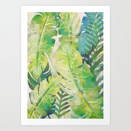 Tropical Leaves 2 Art Print