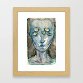 You look good in blue Framed Art Print