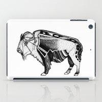 bison iPad Cases featuring Bison by Jade Antoine