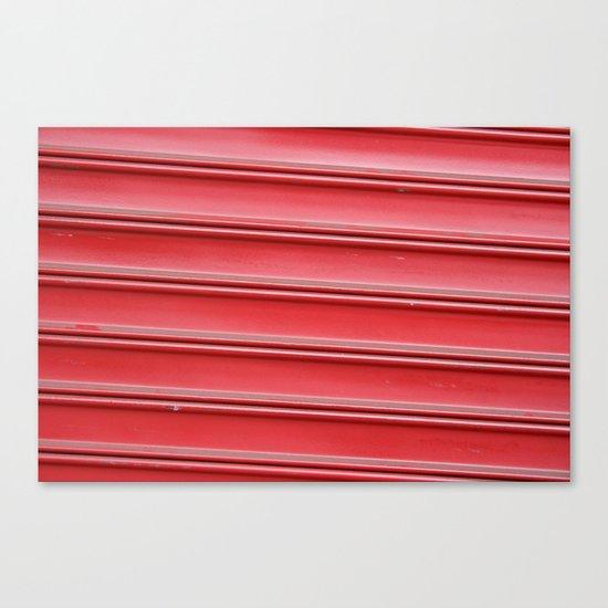 Red garage door Canvas Print