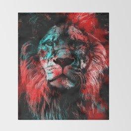 Lion wild cat #lion Throw Blanket
