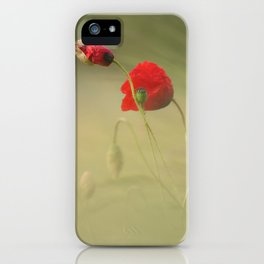 #corn #poppy iPhone Case
