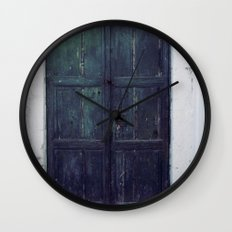 Santorini Door II Wall Clock