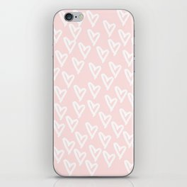 White hearts iPhone Skin