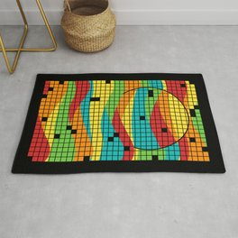 Music in the Sunset Rug