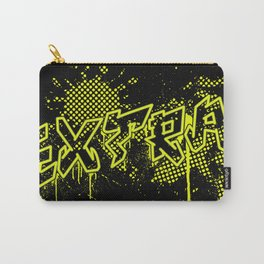 extra splash black and yellow grafitti design Carry-All Pouch