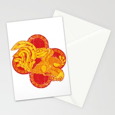 Rooster fire Stationery Cards