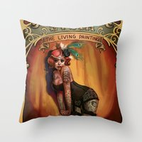 lydia martin Throw Pillows featuring Lydia by Rudy Faber