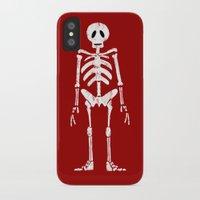 skeleton iPhone & iPod Cases featuring Skeleton by Emma Harckham