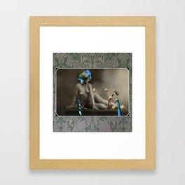The Strongman & The Hooping Showgirl Framed Art Print