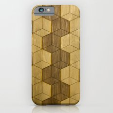 Wooden Zig Zag Optical Cubes Slim Case iPhone 6s