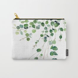 Eucalyptus Watercolor Carry-All Pouch