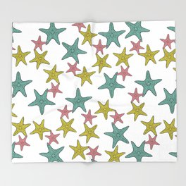 starfish tropical print Throw Blanket