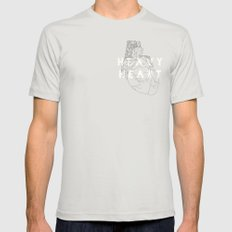 Heavy Heart SMALL Silver Mens Fitted Tee
