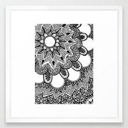 Black and White Doodle 2 Framed Art Print
