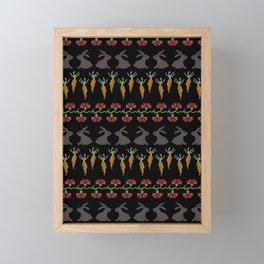 Bunnies and carrots 2 Framed Mini Art Print