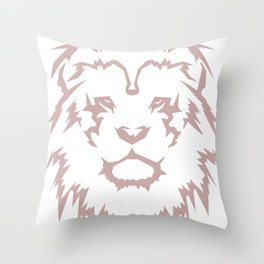 Relaxed Leo Throw Pillow