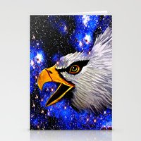 eagle Stationery Cards featuring Eagle by Saundra Myles