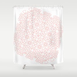 Mandala Living Coral Shower Curtain