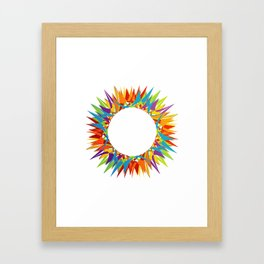 Explosion of Blooming Spring Colors Framed Art Print