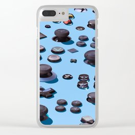 Sticks and Buttons Clear iPhone Case