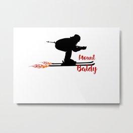 Ski speeding at Mount Baldy Metal Print