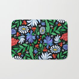 Abstract floral background Bath Mat