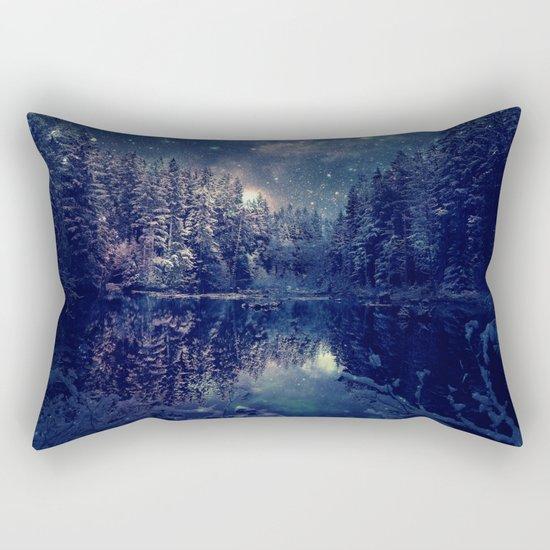 Winter Forest Deep Pastel Rectangular Pillow