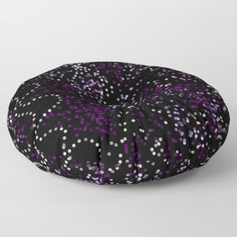 Purple Lights Floor Pillow