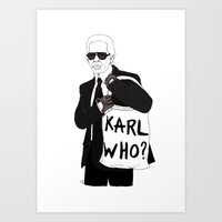 karl Art Prints featuring Karl by Les Gutiérrez