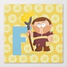 f for farmer Canvas Print
