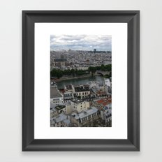 Paris Rooftops and the Seine Framed Art Print