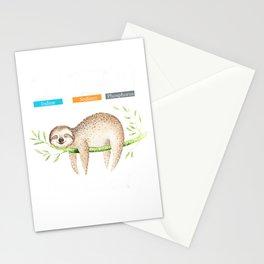 Funny science i nap periodically sloth t-shirt Men Women kid T-Shirt Stationery Cards