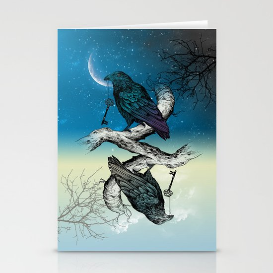 Raven's Key Night+Day Stationery Cards