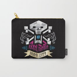 PIXEL PIRATE SKULL AND BONES Carry-All Pouch