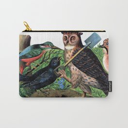 Vintage Owl with Shovel Carry-All Pouch