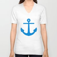 sail V-neck T-shirts featuring Sail by M Studio