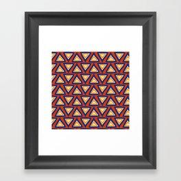 Blue Orange Triangles Framed Art Print