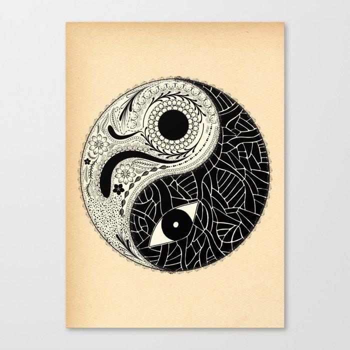 - yin & yang - [collaborative art with famenxt] Canvas Print