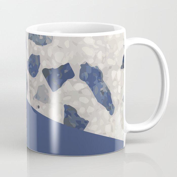 Terrazzo Texture Dark Blue #2 Coffee Mug